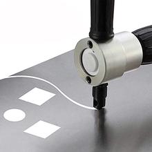 Elektryczna przecinarka karoserii podwójna głowica Nibbler ostrze przecinarka narzędzie wiertarka akcesoria maszyna wykrawania nożyce modyfikacji tanie tanio Części narzędzi ręcznych CN (pochodzenie) Metal Cutting STAINLESS STEEL Komercyjne Producenci