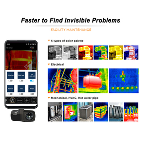 Image 5 - HT 201 Thermometer Multifunction Meter Handheld Detection Mobile Phone Infrared Black High Thermal Imager for Android