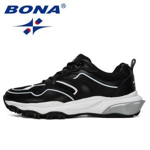 Image 5 - BONA 2019 New Designer Running Shoes Men Sports Outdoor Increased Bottom Sneakers Walking Athletic Shoes Man Jogging Footwear