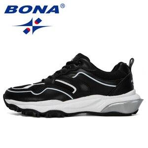 Image 5 - BONA Zapatillas deportivas para hombre, calzado deportivo masculino de suela elevada, para caminar y trotar, 2019