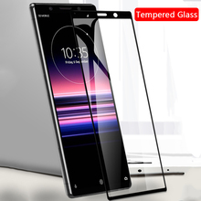 9H tempered glass full screen protector on for Sony Xperia 5