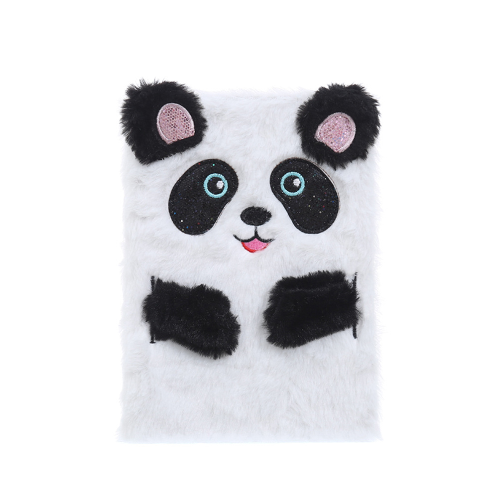 Notepad Pocket-Diary-Planner Cartoon Portable Stationery Panda Plush Girls 1pcs Escolar title=