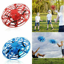 Mini Flying Helicopter UFO RC Drone Hand Sensing Aircraft Electronic Model Quadcopter Toys For Children(China)