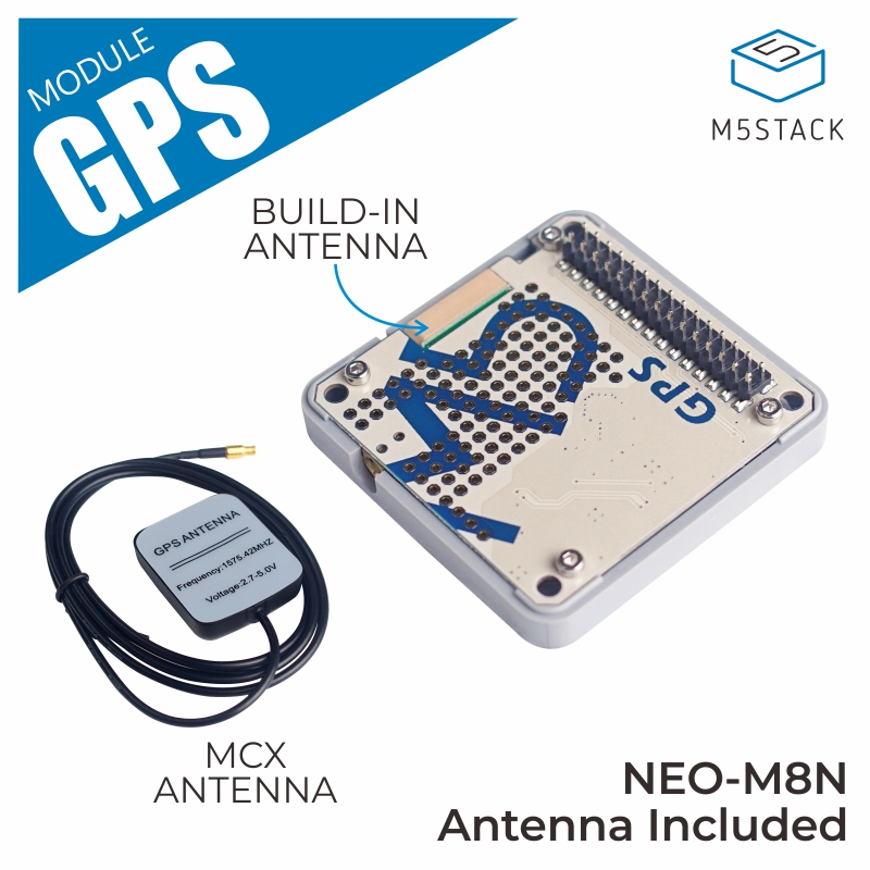 M5Stack GPS Module NEO-M8N With Internal & External Antenna MCX Interface IoT Development Board For Arduino ESP32