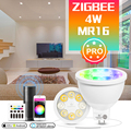 Умный прожектор GLEDOPTO ZigBee 3,0, RGBCCT MR16, 4 Вт, AC/DC 12 В, 25 градусов