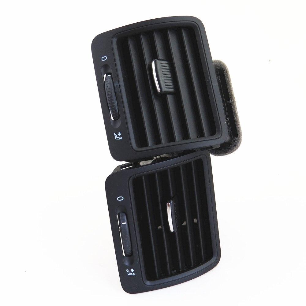 Fhawkeyeq centro do carro ar condicionado saída de ventilação bico conjunto para vw jetta mk5 golf mk5 coelho 1kd 819 728 1kd 819 203 1kd 819 704 - 6
