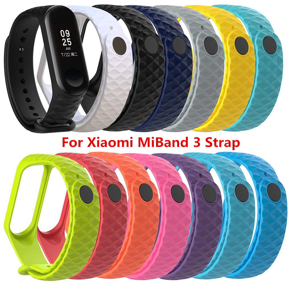 13 Colors For Xiaomi Mi Band 3 TPU Colorful Strap Wristband Replacement Smart Sport Watch Wrist Band
