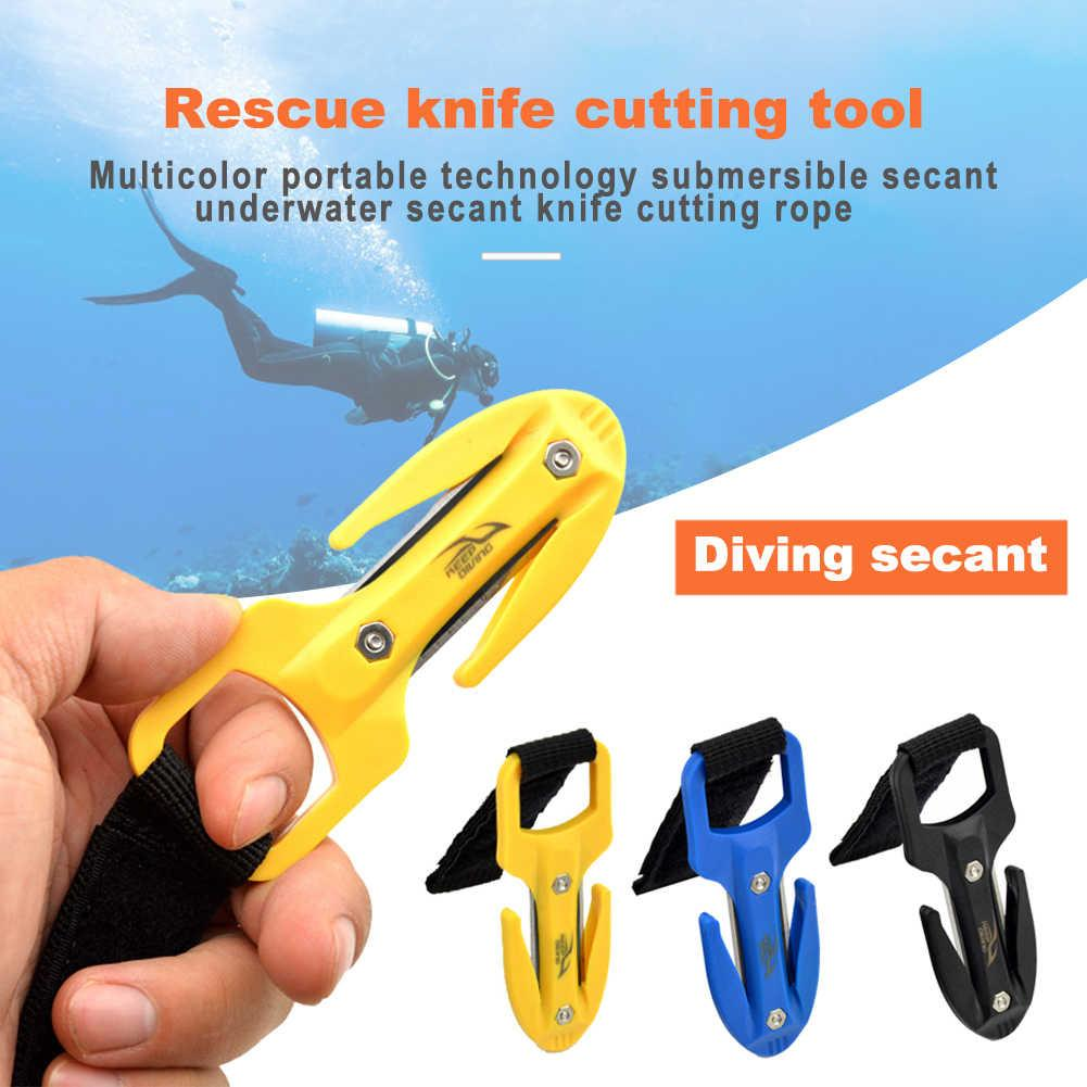 High Quality PP Scuba Diving Cutting Special Knife Line Cutter Underwater Knife Spearfishing Secant Equipment Easy Carry 3 Color