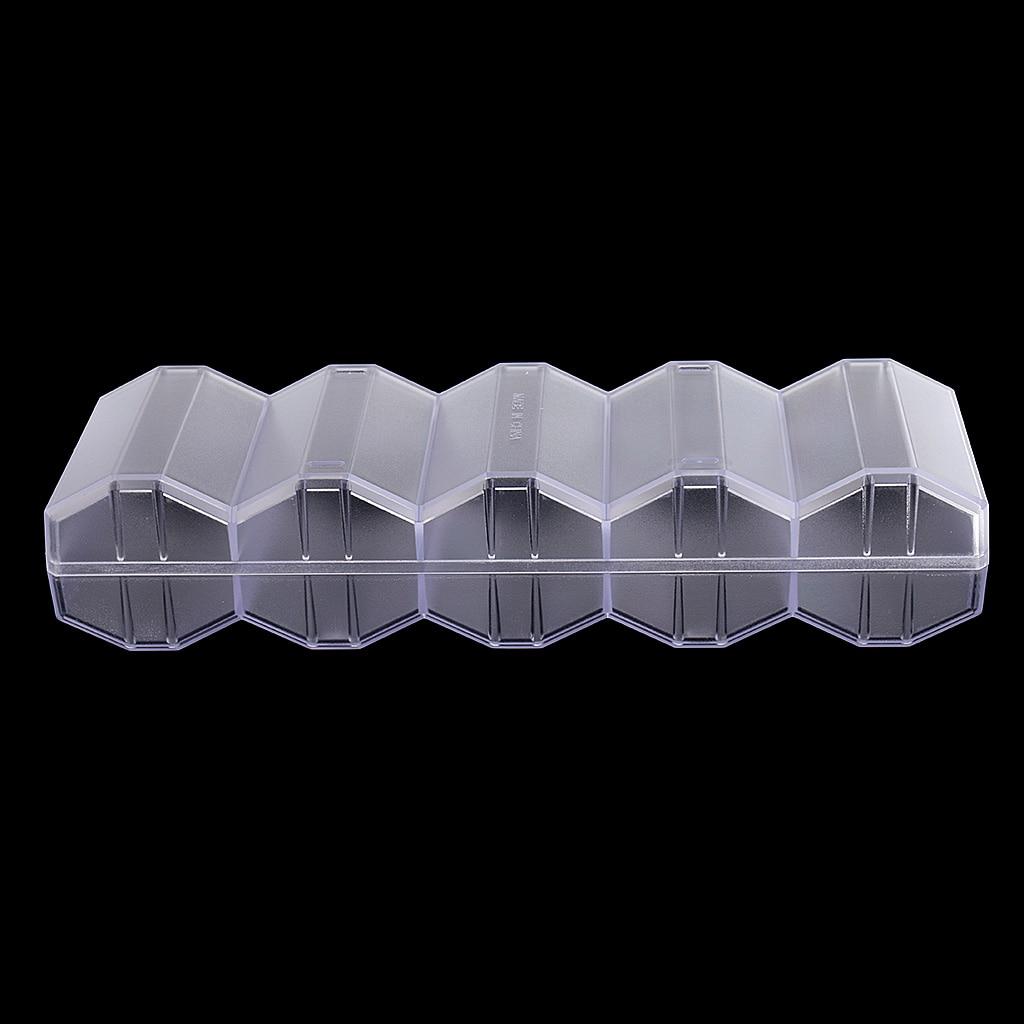 Прозрачный акриловый покерный лоток для чипсов 100 фишек дисплей сотовый Чехол коробка с крышкой