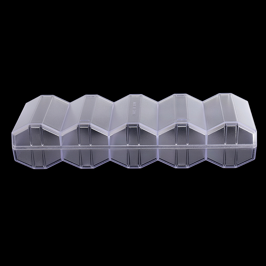 Transparent Acrylic Poker Chips Tray 100 Chips Display Honeycomb Case Box With Cover