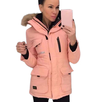 Women Hooded Coats Warm Cotton Ladies Outwear Winter Cotton padded Jacket Pocket Hoodies Outwear manteau femme hiver D20