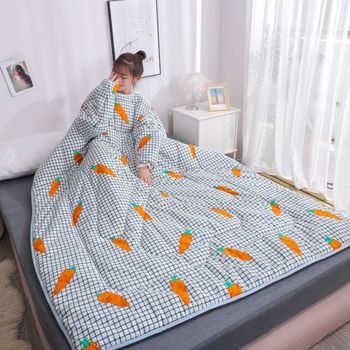 4 Styles Nap Blanket Dormitory Cloak Covered Blanket Stocks Winter Lazy Quilt With Sleeves Family Blanket Cape Cloak Drop