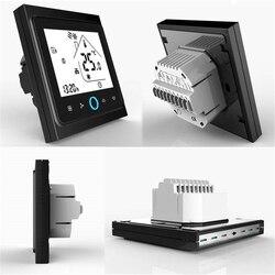 Modbus termostato condicionador de ar central 2-pipe três velocidade do vento termostato lcd controlador de temperatura de toque termostato de inverno
