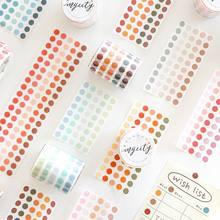 Sharkbang novo elemento base de sal da cor do vintage fita adesiva decorativa scrapbooking etiqueta marcador ponto mascaramento washi fita