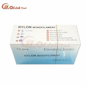 12Pcs/set Nylon Monofilament Medical Thread With Needle Suture Training Practice 75cm to Improve Medical Technique Exercise Tool 3