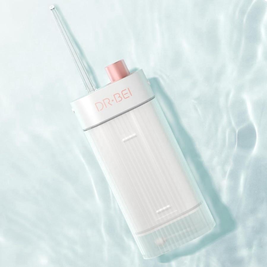 Dr. Bei Drahtlose Oral Wasser Dusche Flosser Tragbare Zahn Wasser Jet 3 Modi USB Aufladbare Zahn Reiniger IPX7 Wasserdicht