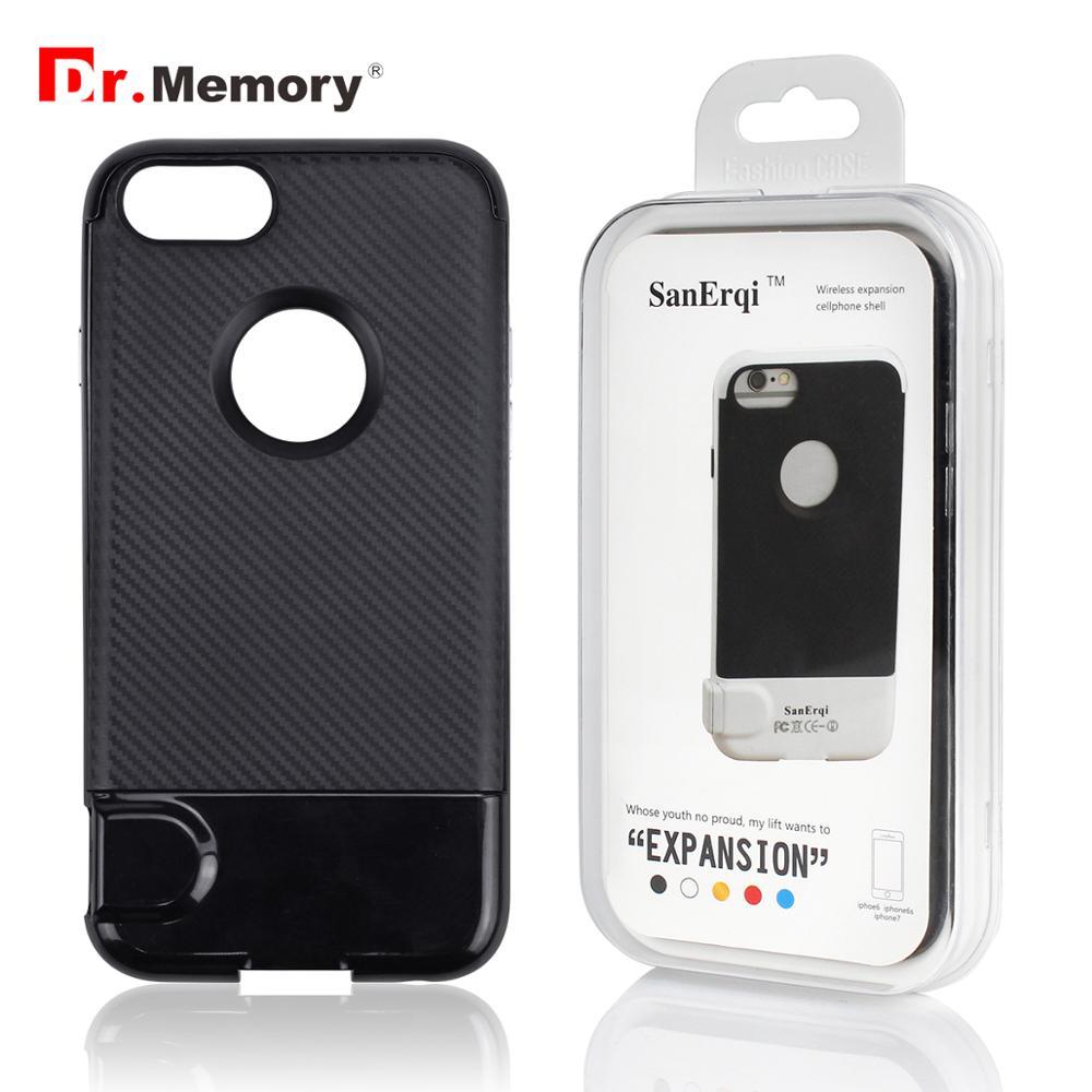 Case de Expansão de Memória sem Fio para Iphone Leitor de Cartão de Memória 6 à Prova de Choque Memória Multi-função s tf Case Capa Dr. 7 6