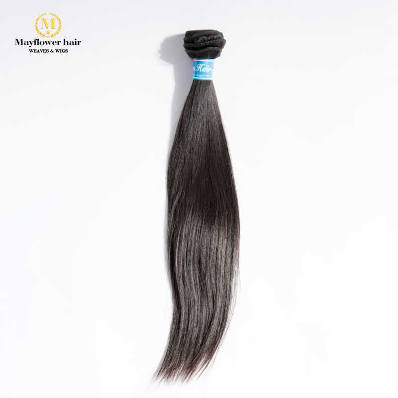 "MFH Beauty 100% Unprocessed Malaysian straight virgin hair 1/2/3/4 bundles 10-30"" mixed length Natural color Free shipping"