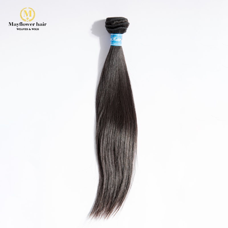 "MFH Beauty 100% Unprocessed Malaysian Straight Virgin Hair 1/2/3/4 Bundles 10-30"" Mixed Length Natural Color Free Shipping"