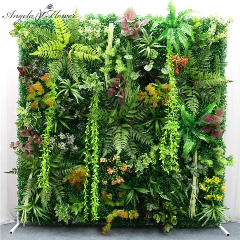 40x60cm 3D vert plantes artificielles panneau mural en plastique extérieur pelouses tapis décor mariage toile de fond fête jardin herbe fleur mur
