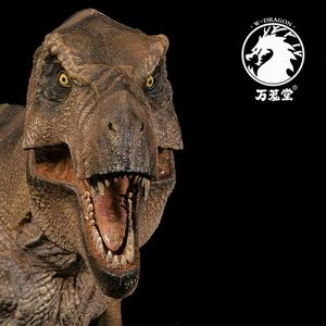 Image 5 - Stokta var!!W ejderha 1:35 ölçekli Rexy heykeli kadın Tyrannosaurus Rex Jurassic dinozor t rex toplayıcı Dino yetişkinler oyuncak hediye