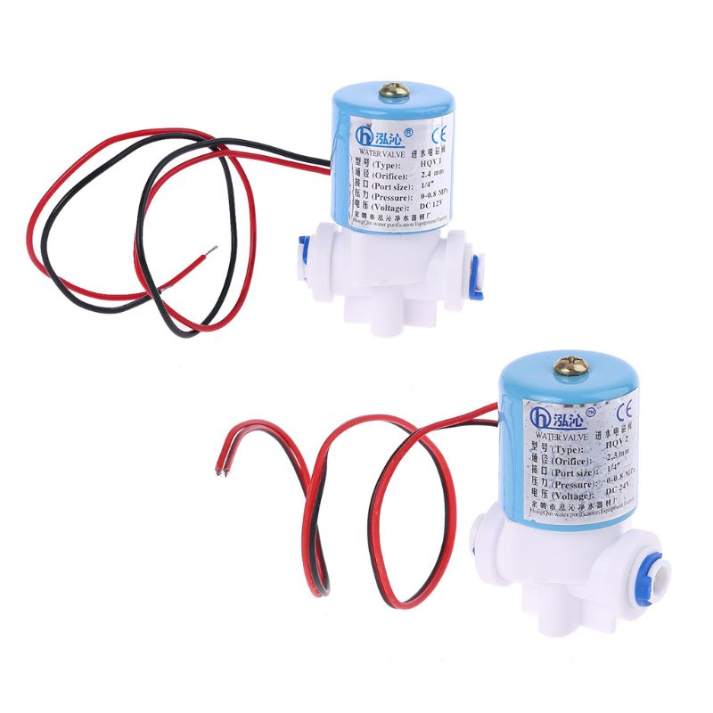 "G1/4"" Solenoid Valve Plastic Normally Closed 2 Way 12V DC 0-120PSI 0-0.8MPa Kit 875F"