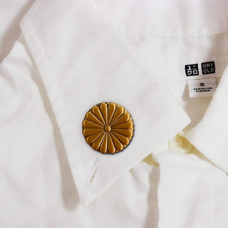Nhật Bản Quốc Huy Hoàng Cói Pin Mười Sáu Cánh Hoa Vàng Cúc Huy Hiệu Lễ Tốt Nghiệp Quà Tặng|Brooches| - AliExpress