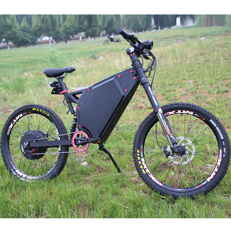 72V 3000W Enduro Rahmen Elektrische Fahrrad mit Sunringle Felge DNM USD-8 DNM Downhill Mountain eBike Air Suspension Gabel hinten Schock