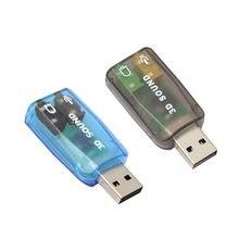 Tarjeta de sonido externa 3D para PC, adaptador de Audio de alta calidad, tarjeta de sonido 3D 5,1 USB a 3,5mm, enchufe de auricular con micrófono, auriculares estéreo 20 #23