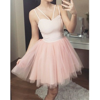 2019 Newest Style Women Spring Summer Bridesmaid Short Tulle Tutu Dresses Party Ball Prom Gown Dress 1
