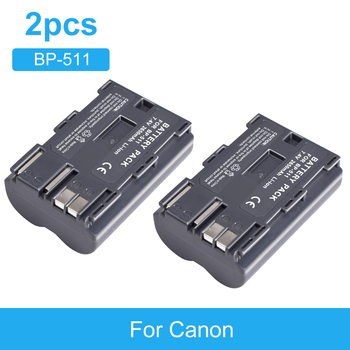 מצלמה סוללה BP-511 2650mAh rechargable סוללה עבור Canon EOS 40D 300D 5D 20D 30D 50D 10D D60 G6 BP511 FV40 FV30 FV100