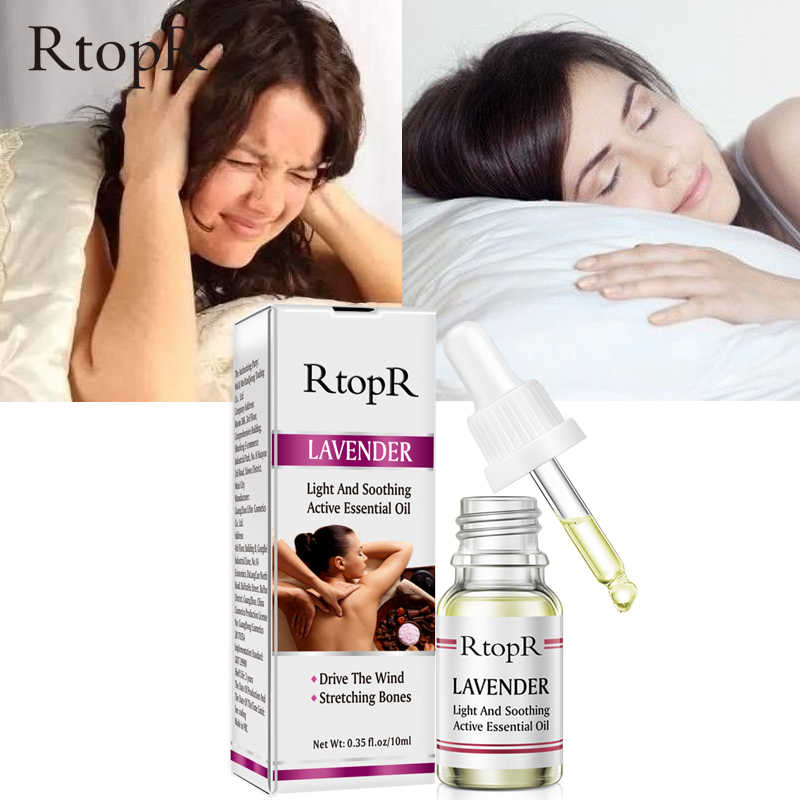 Rtopr Tanaman Murni Lavender Pijat Minyak Anti-Aging Jahe untuk Ekstrak Drop untuk Menghilangkan Rasa Sakit Mengurangi Kecemasan tidur Yang Lebih Baik