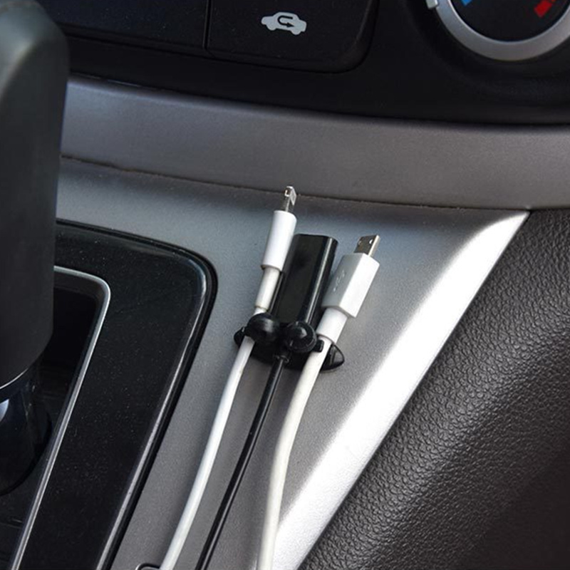 8PCS Car Wire Holder Clip Car Stickers For Ssangyong Tivoli XLV Kyron Actyon for Honda Civic Accord CITY Fit HR-V CR-V XR-V(China)
