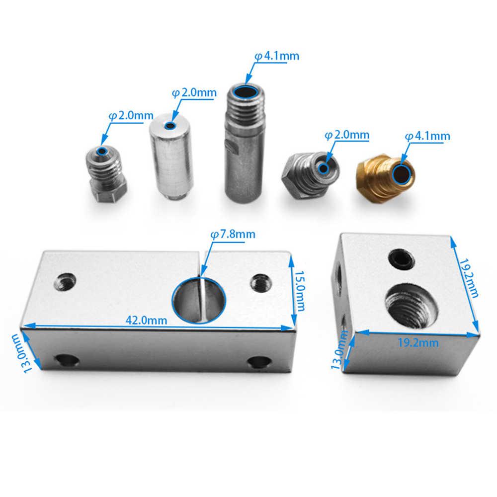 MK10 جميع المعادن الساخن نهاية عدة مع التبريد الحرارة Blcok 0.4 مللي متر Nozzel ل الخالق برو طابعة ثلاثية الأبعاد جزء ل Wanhao i3 Dupicator D4/I3