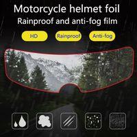 Capacete à prova de chuva remendo motocicleta tipo universal capacete anti-chuva anti-nevoeiro filme carro elétrico meio-capacete anti-nevoeiro lente remendos