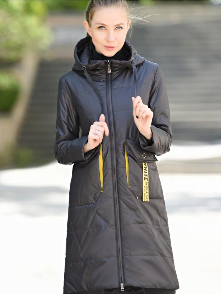 CEPRASK Jacket Women Coat Hood Spring Parka Long Autumn Plus-Size Fashion Cotton NEW