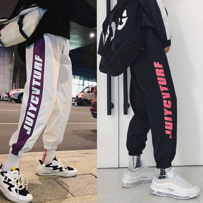 Hip Hop Beam Leg Casual Pants Men Summer Athletic Pants Loose Harem Pants Korean-style Trend Sweatpants