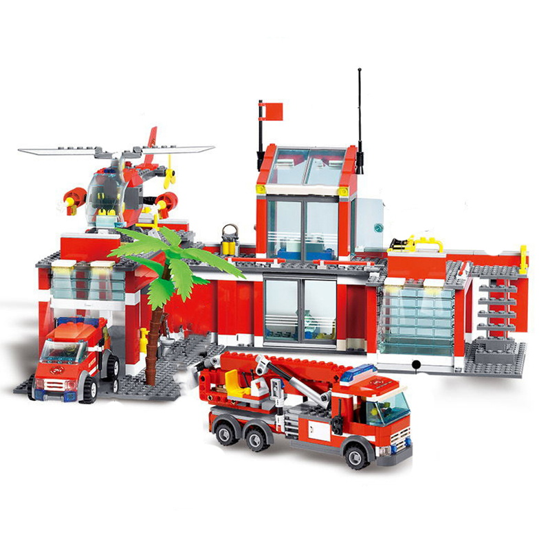 774 Pcs Fire Truck Building Blocks City Fire Engine Station Firefighter Sets Rescue Car For Kids Educational Toys Tricks