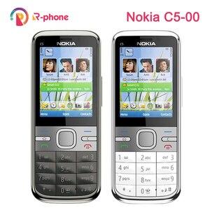 Image 1 - ตกแต่งใหม่NOKIA C5 00 โทรศัพท์มือถือปลดล็อกC5 โทรศัพท์ภาษาอังกฤษฮีบรูอาหรับรัสเซียแป้นพิมพ์ & Oneปี