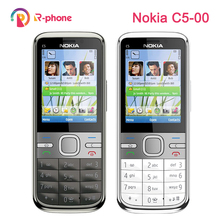 Refurbished Original NOKIA C5 00 Mobile Phone Unlocked C5 Phone English Hebrew Arabic Russian Keyboard & One year warranty