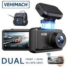 GPS Wifi Dash Cam 4K Dvrs For Cars Video Recorder Vehicle Camera Front And Rear View Mirror DVR Auto Register Parking Monitor