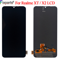 AMOLED Black 6.4 ''For Oppo Realme X2 RMX1991 LCD Realme XT RMX1921 LCD DIsplay Touch Screen Digitizer Assembly Replacement