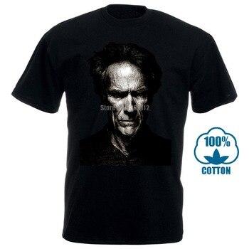 Clint Eastwood T-Shirt nowi mężczyźni czarna lub ciemnoszara koszula S do 3Xl Manco Blondie rękaw mężczyźni t-shirty moda