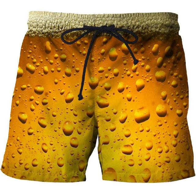 2021 summer swimming trunks 3D printing casual beach pants fitness street men's comfortable shorts fashion hip-hop sports pants 1