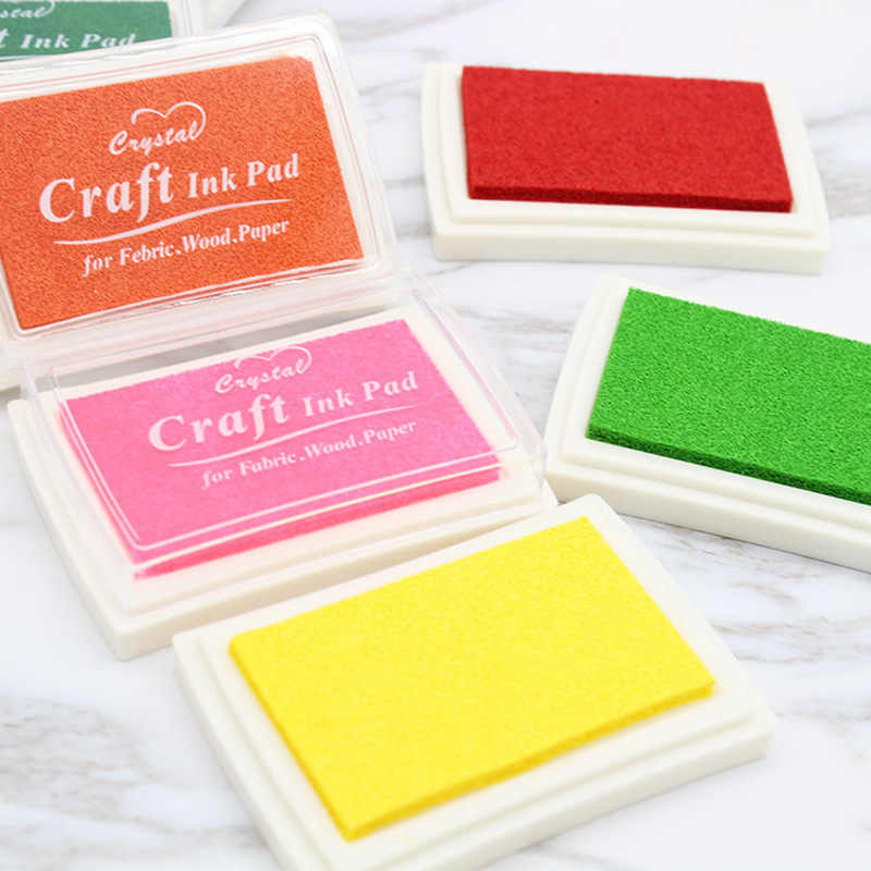 1pc Inkpad Handmade DIY Craft Oil Based Ink Pad Rubber Stamps Fabric Wood Paper Scrapbooking Ink pad Finger Paint Wedding