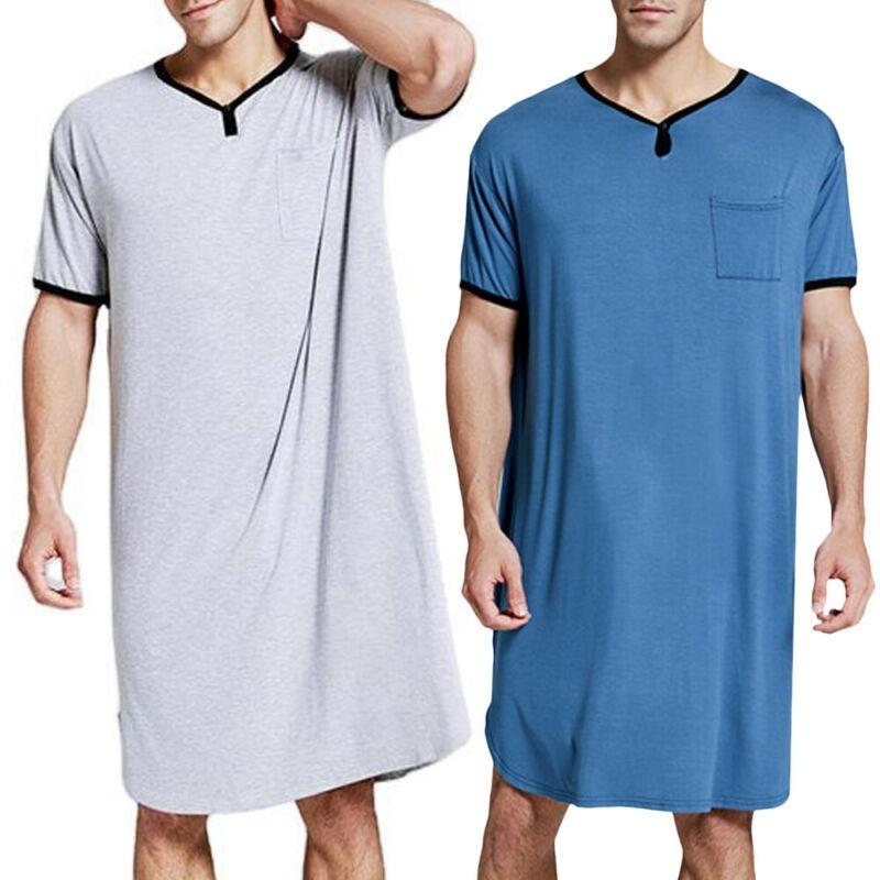 Universal FashionMen'ss Plain Short Sleeve Pyjamas Comfy Casual Sleepwear Loungewear Nightwear Tops