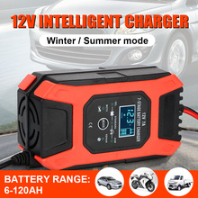 Digital LCD Display Wet Dry Lead Acid Battery charger 12V 7A 7 Stage Automatic Smart Car Battery Charger For Motorcycle ATV