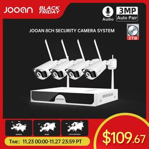 Image 1 - Jooan 8CH NVR HD 3MP CCTV Camera System Audio Record Outdoor P2P Wifi IP Security Camera Set Video Surveillance Kit