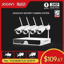Jooan 8CH NVR HD 3MP CCTV מצלמה מערכת אודיו שיא חיצוני P2P Wifi IP אבטחת מצלמה סט ערכת מעקב וידאו