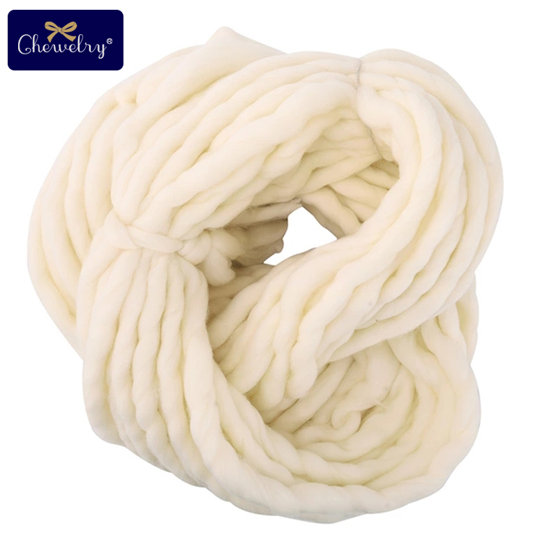 250g 36M Super Thickness Hand Knitting Soft Wool Roving Bulky Thick Big Yarn Hand Knitting Thread Crochet Yarn For Hat Scarf
